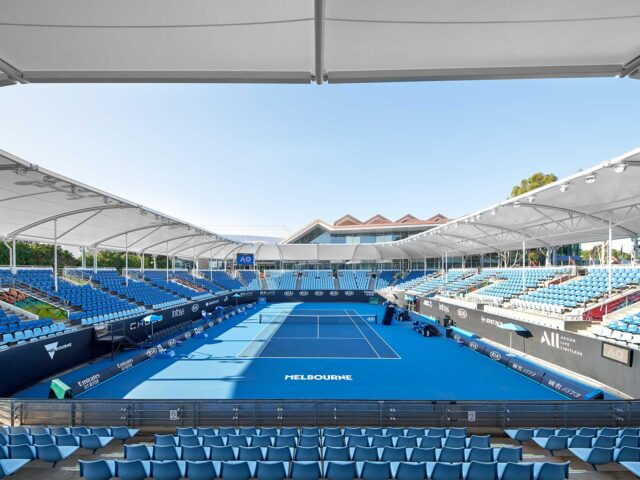 Australian Open Shourcourt 3 ready for Action in 2020