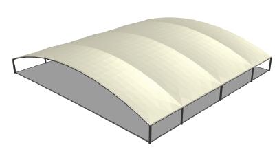 MakMax Flatback TensoSport-MAX canopy Render