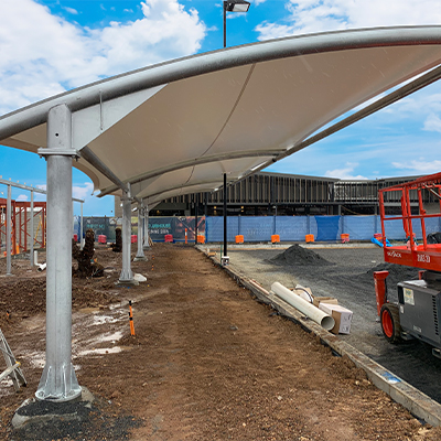 Bowls Player End Shade Structure