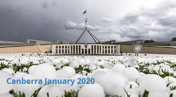 Canberra January 2020 Hail Storm
