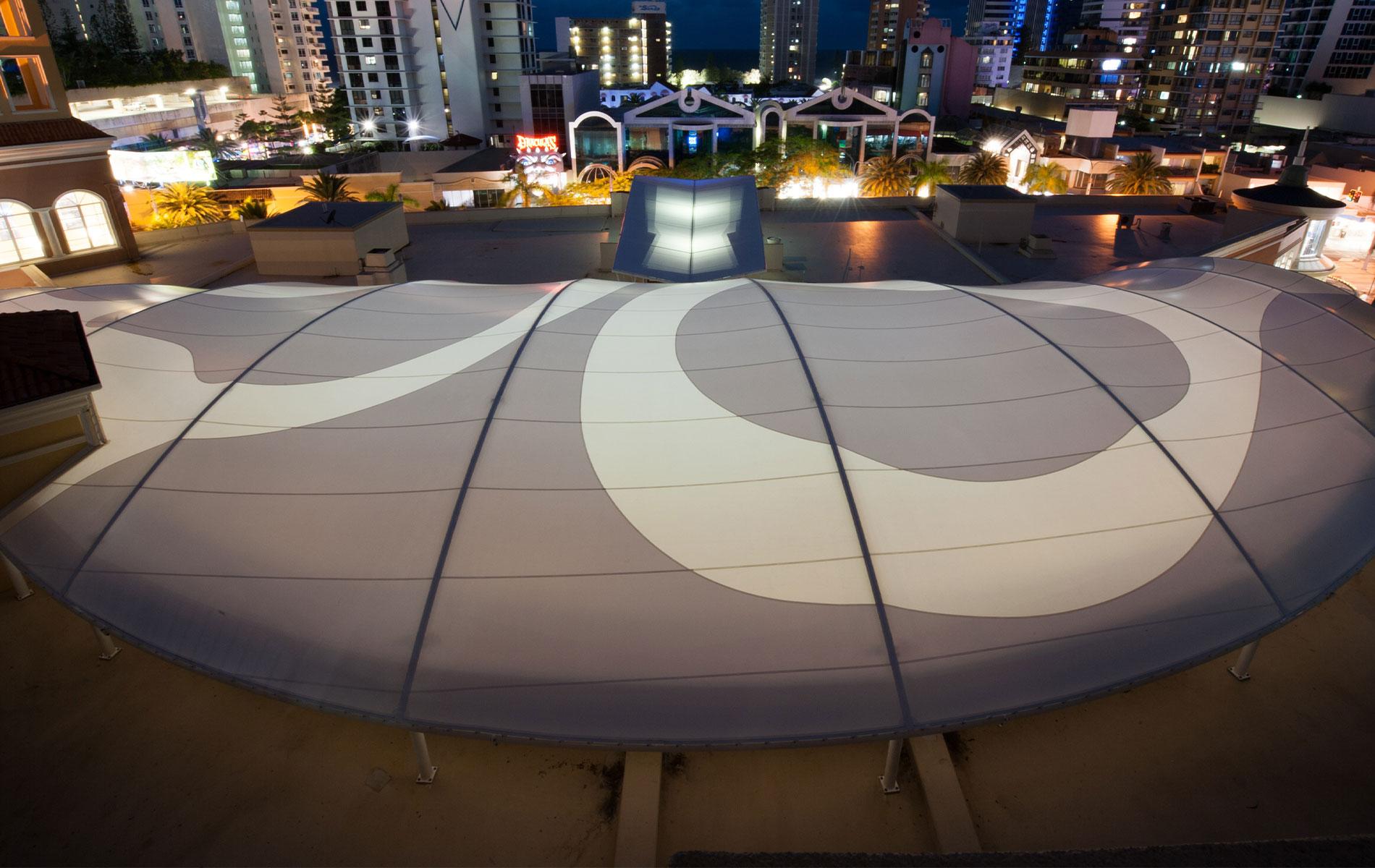 Chevron Renaissance Fabric Roof