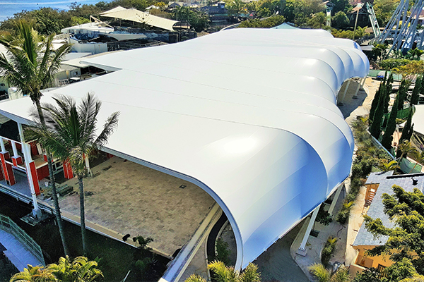 Custom Fabric canopy over SeaWorld Plaza