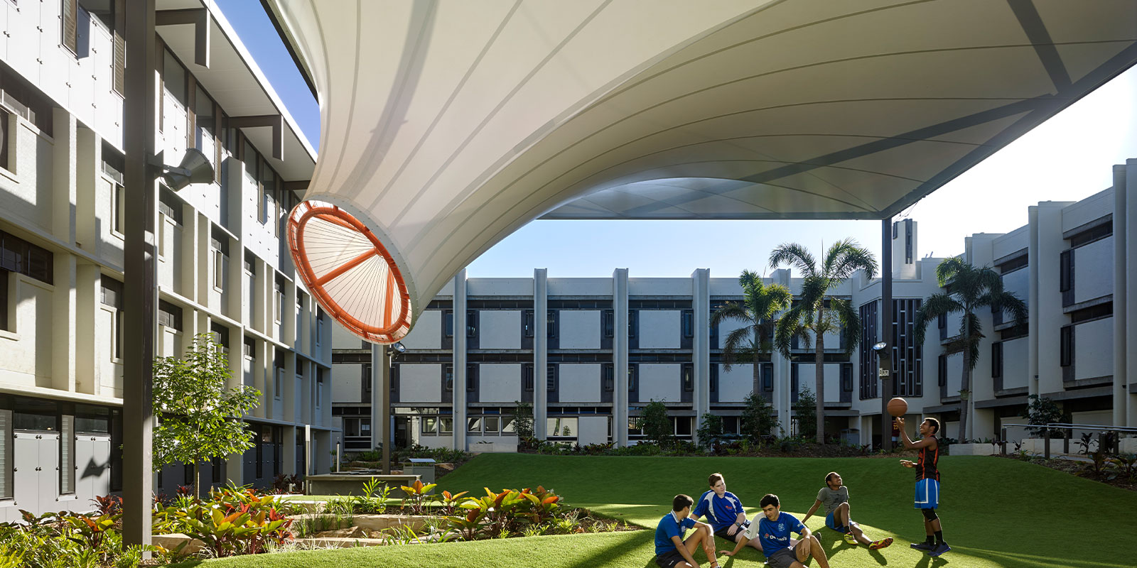 Bespoke Shade Structure, Nudgee College, Brisbane QLD