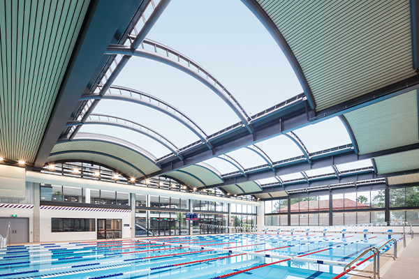 ETFE Skylight over a school swimming pool