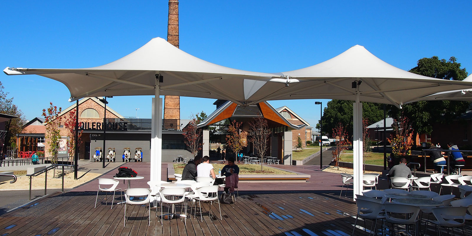 Monaco Permanent Umbrellas at University of Western Sydney