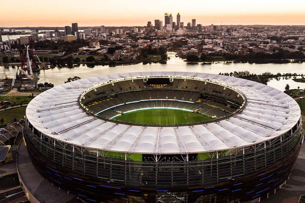 The Halo Roof on Perth's Optus Stadium