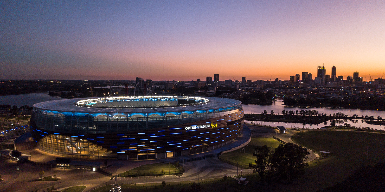 Optus Stadium Perth at Dusk