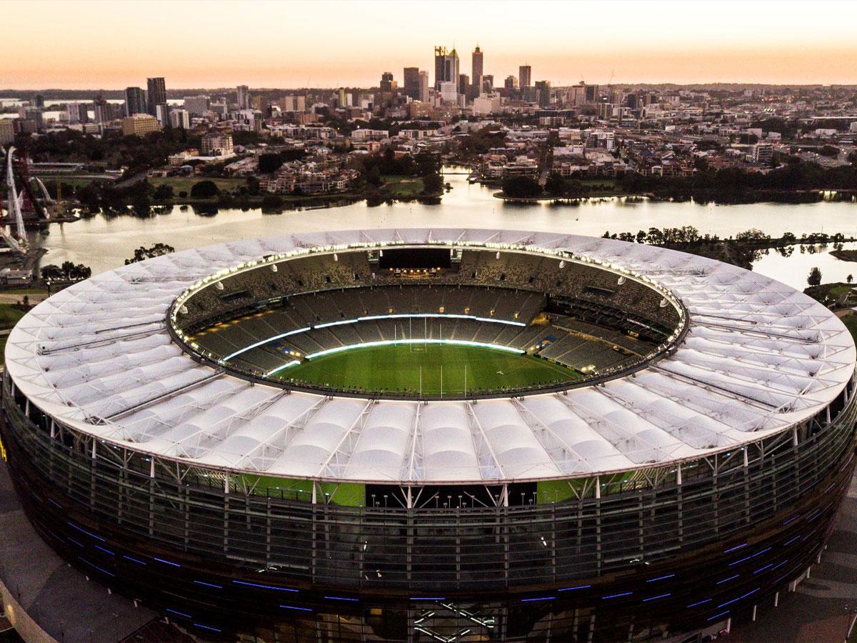 Optus Stadium from above