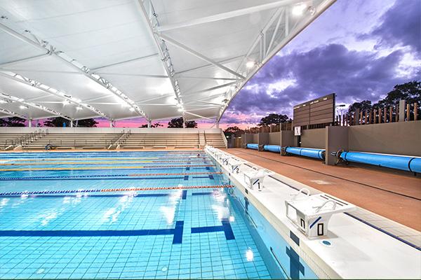 Southside Pool in Rockhampton at Sunset