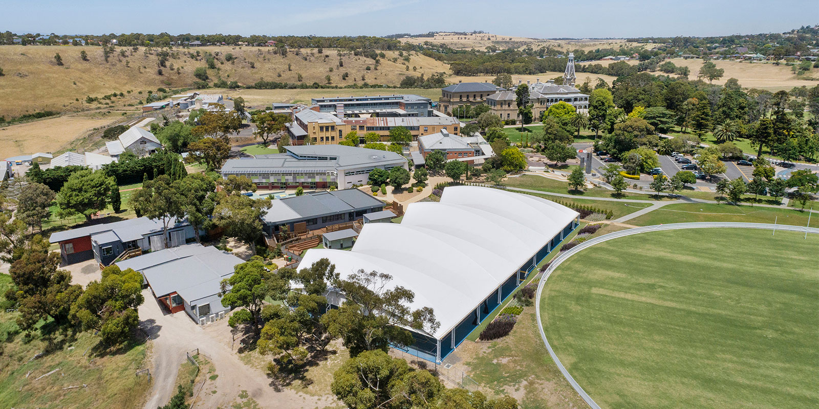 Sports Court Canopy at Salesian College in Sunbury, VIC