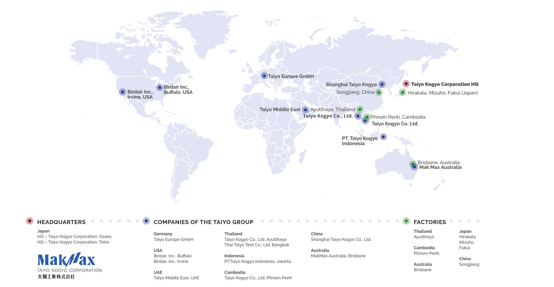 Taiyo Kogyo Corporation Global Presence