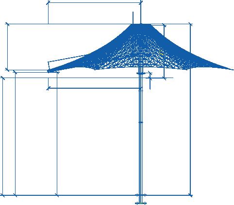 Commercial Umbrellas Centra Umbrella Outline