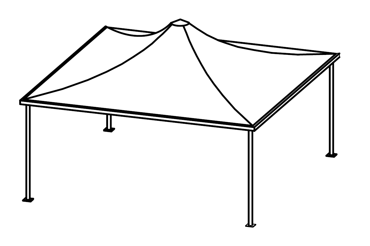 Pavilion Side View Drawing