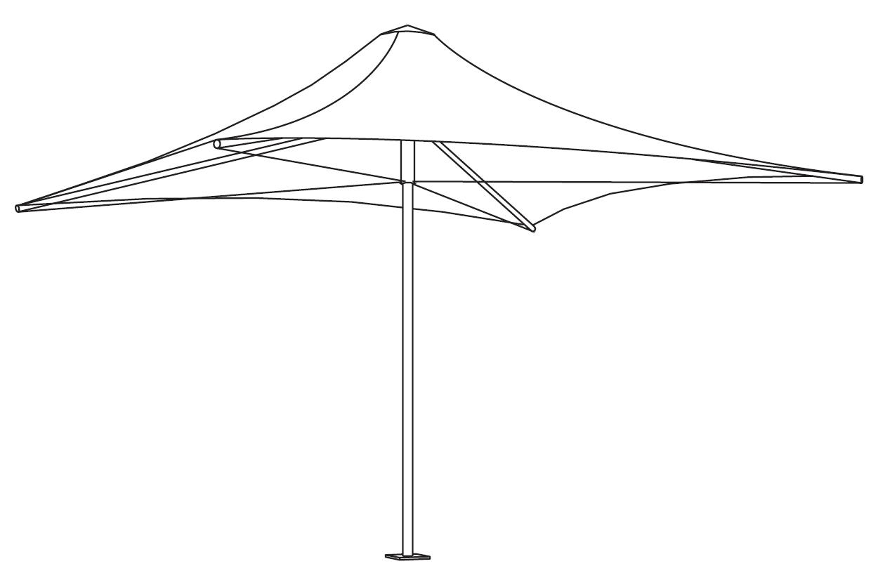 Centra Umbrella Line Drawing