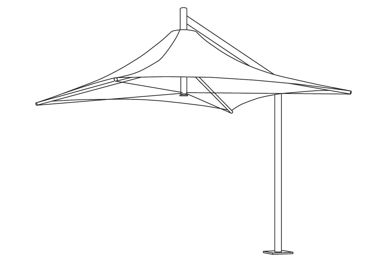 Leva Architectural Umbrella Line Drawing
