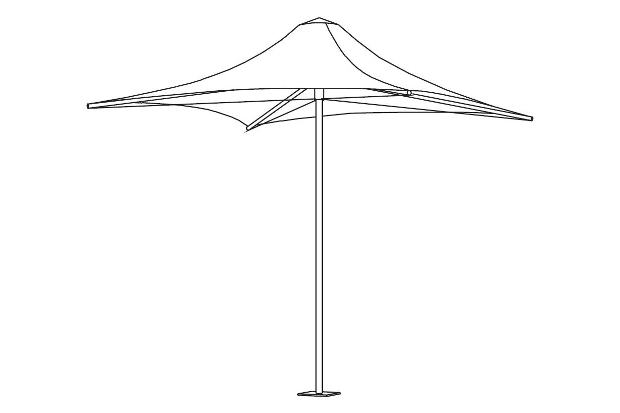 Porta Architectural Umbrella Line Drawing