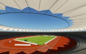 Jawaharlal Nehru Stadium Roof Render- Inside