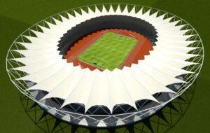 Jawaharlal Nehru Stadium Roof Render Overview