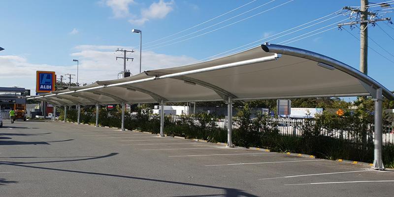 Single Bay TensoCar Carpark Shade