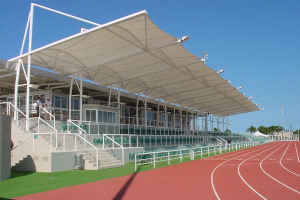 A stadium grandstand cover