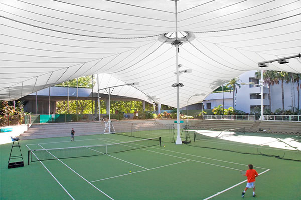 Tennis court with canopy, RACV Resort Gold Coast