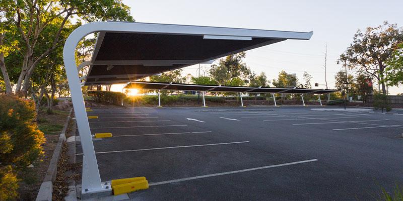Bespoke carpark shade cover