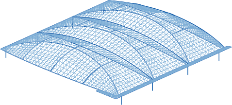 A leaning arch TensoSport-MAX Canopy design