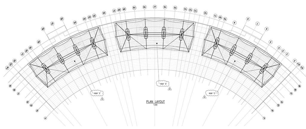 Chepauk Stadium Grandstand Drawing