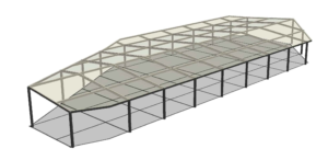 Rhodes Central ETFE skylight