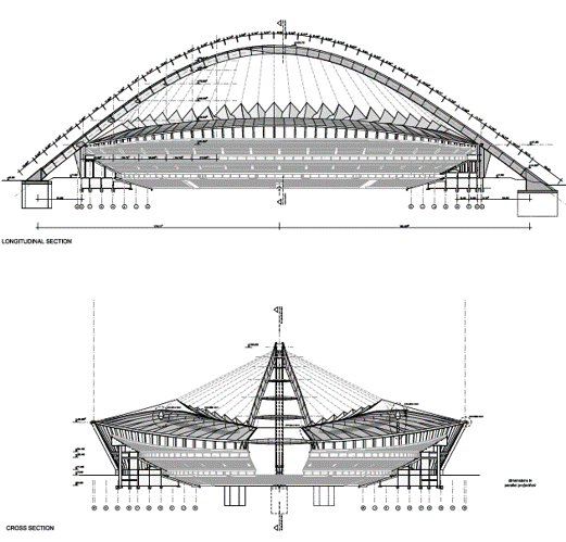 Cable Net Structures - Stadium example